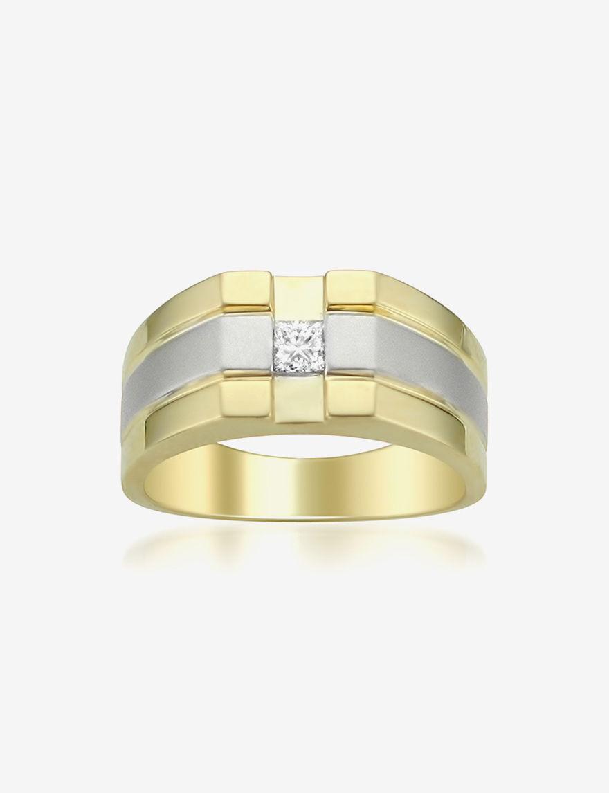 La4ve Diamonds Two Tone Rings Fine Jewelry