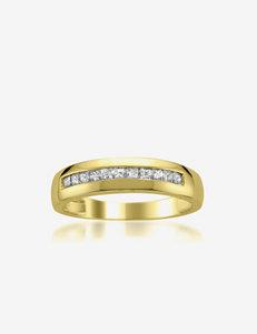 La4ve Diamonds 14k Yellow Gold 1/2 CT. T.W.Diamond Wedding Band