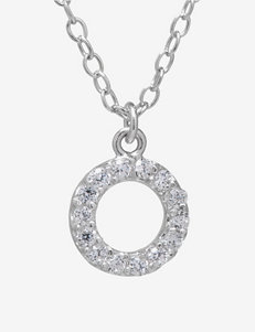 Athra Sterling Silver Cubic Zirconia Open Round Necklace