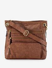 Bueno Solid Color Triple Zip Crossbody Bag