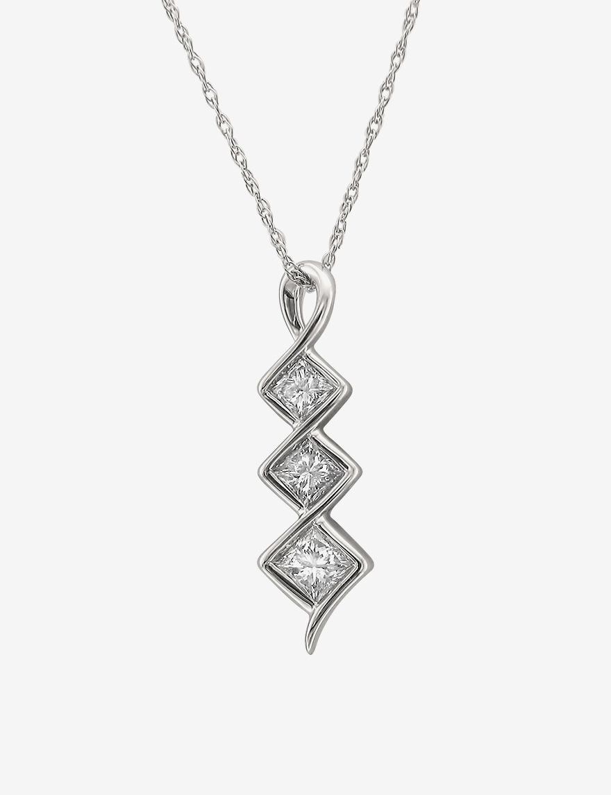 La4ve Diamonds White Necklaces & Pendants Fine Jewelry