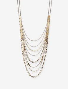 Hannah Multi-Strand Pearl & Chain Link Necklace