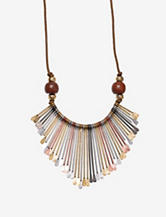Hannah Multicolor Spoon Drop Necklace