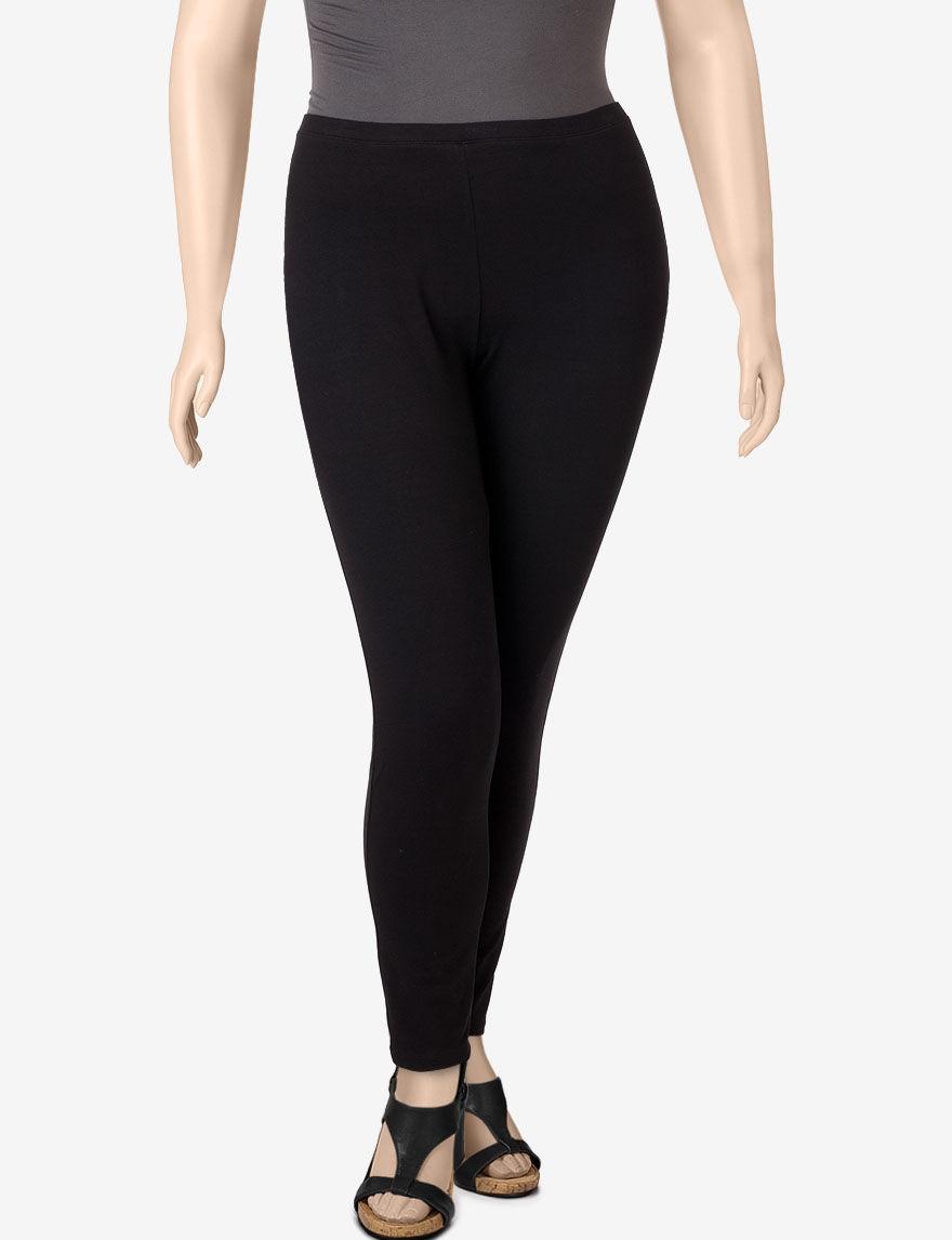 Hueu00ae Black Cotton Leggings u2013 Plus-sizes   Stage Stores