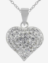 Sterling Silver Crystal Accented Heart Pendant