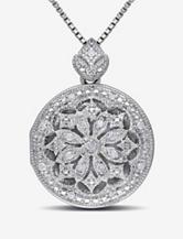 1/10 CT. T.W. Diamond Sterling Silver Locket Pendant