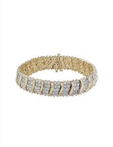 2 CT. T.W. Diamond 18K Gold Over Sterling Silver Bracelet