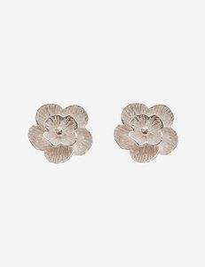 Sterling Silver Textured Flower Stud Earrings