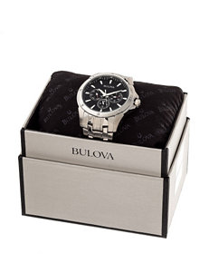Bulova 43mm Stainless Steel Link Watch