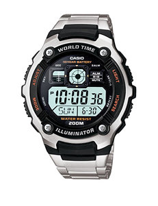 Casio Men's Black & Silver Digital Sports Watch