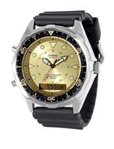 Casio Men's Black & Gold Multifunctal Sports Watch