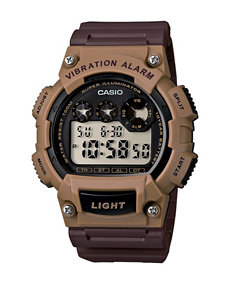 Casio Tonal Brown Digital Sports Watch – Men 's
