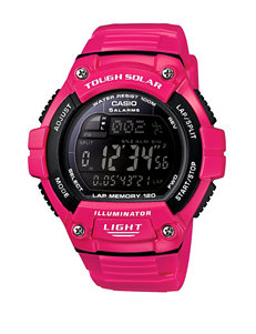 Casio Men's Pink & Black Digital Sports Watch