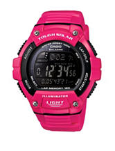 Casio Men's Pink & Black Digital Sports Watch
