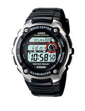 Casio Men's Black & Silver Wave Ceptor Digital Watch