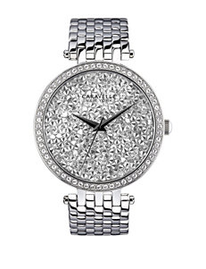 Caravelle New York by Bulova Silver-Tone Crystal Dress Watch – Ladies