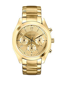 Caravelle New York by Bulova Gold-Tone Chronograph Watch – Ladies