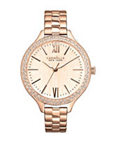 Caravelle New York by Bulova Rose Gold Tone Crystal Watch – Ladies