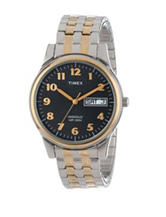 Timex Two-Tone Round Expansion Dress Watch – Men's