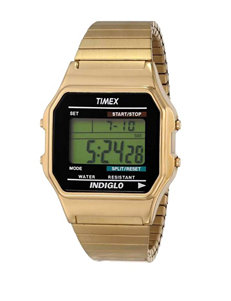 Timex Gold-Tone 80's Retro Style Digital Dress Watch – Men's