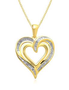 Renaissance .25 CT. T.W. Diamond Heart Necklace