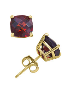 Max Color Gold Studs Earrings Fine Jewelry