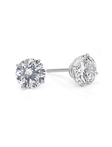 Max Color White Gold Studs Earrings
