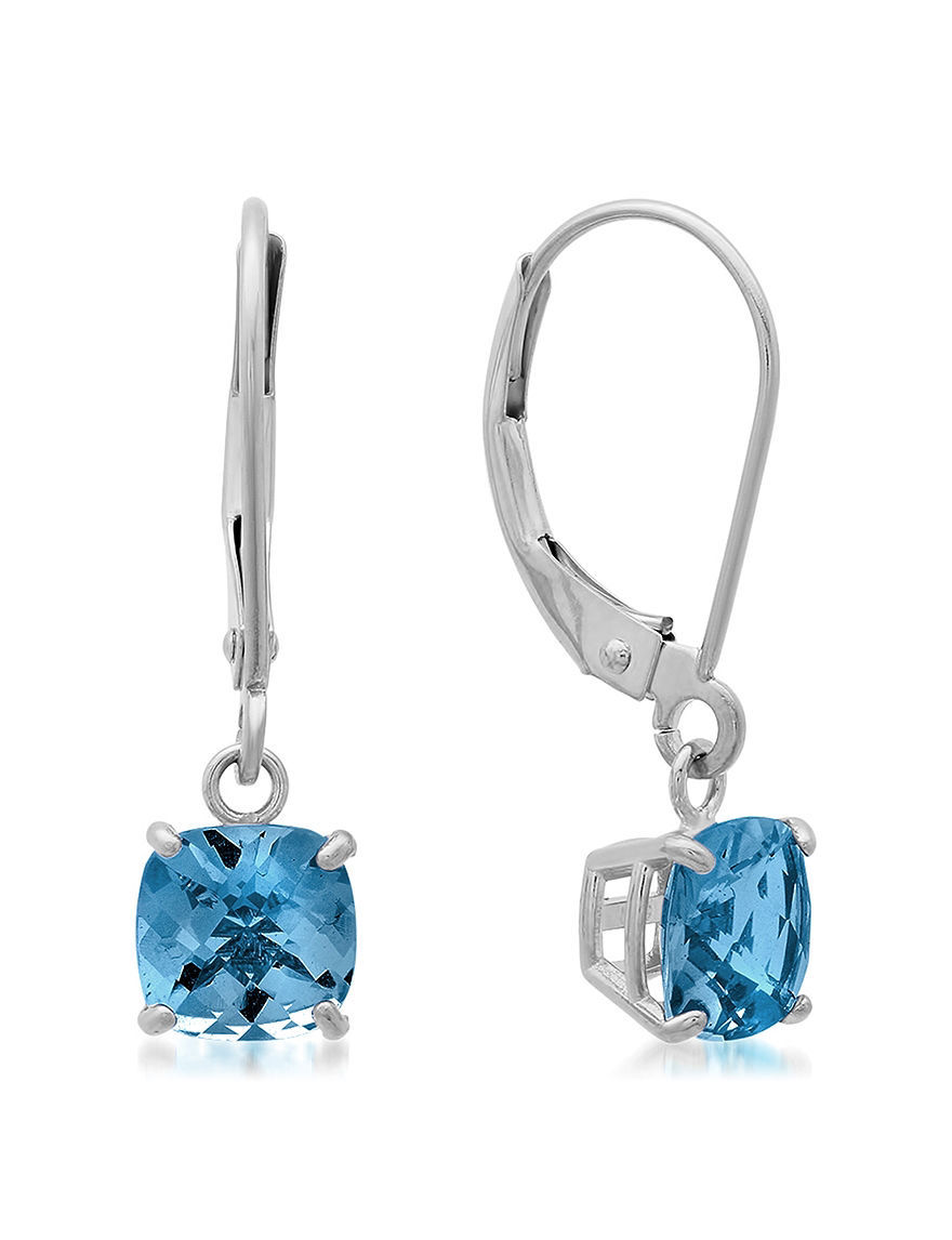 Max Color White Gold Drops Earrings Fine Jewelry