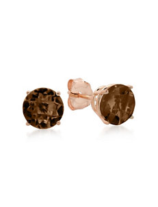 Max Color Rose Gold Studs Earrings Fine Jewelry