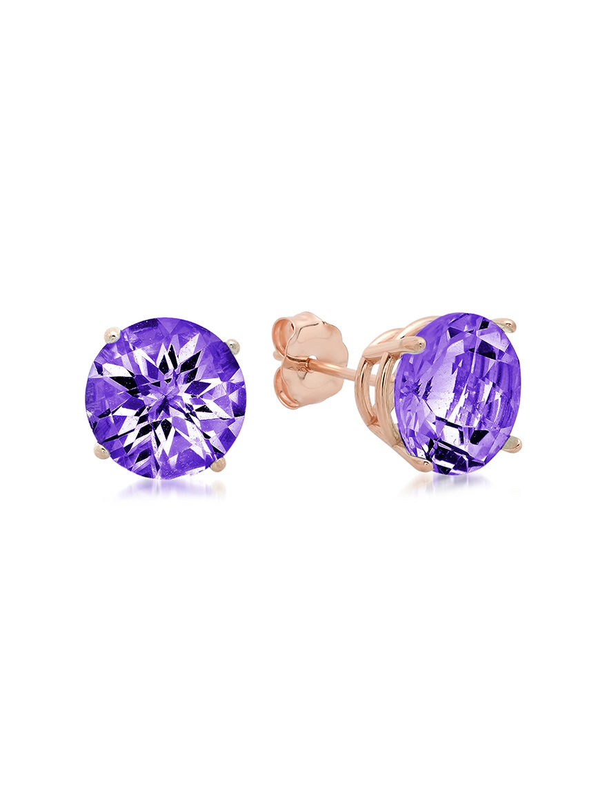 Max Color Rose Gold Earrings Fine Jewelry
