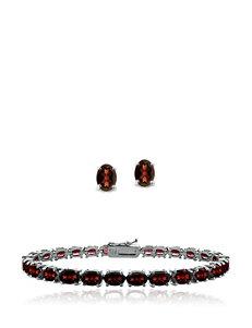 8.4 CT. T.W. African Garnet Bracelet & Stud Set