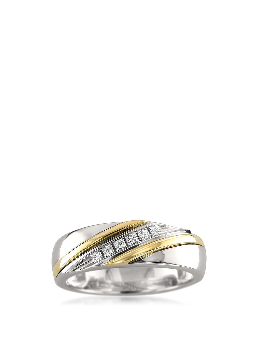 La4ve Diamonds Two Tone Rings Fine Jewelry