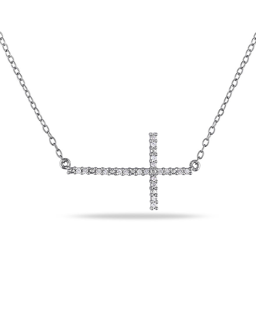 Concerto Diamonds Silver Necklaces & Pendants Fine Jewelry