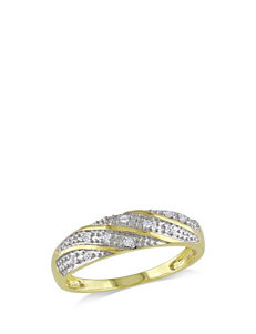 1/10 CT. T.W. 10K Yellow Gold Diamond Eternity Ring – Men's