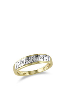 10K Yellow Gold Accent Ring – Men's