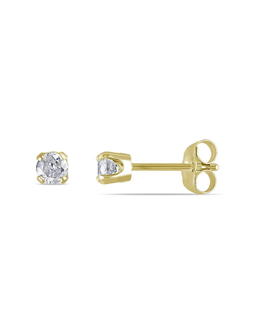 Concerto Diamonds Gold Studs Earrings Fine Jewelry