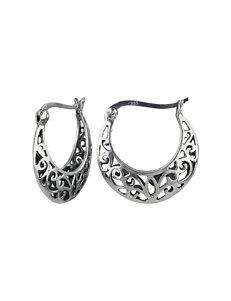 Sunstone  Hoops Earrings