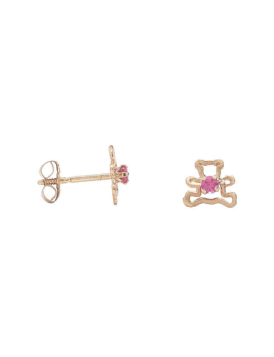 K'Dorable Gold Studs Earrings Fine Jewelry