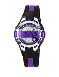 Armitron Purple Round Chronograph Sport Watch – Ladies