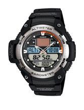 Casio Black Rubber Outdoor Altimeter Watch – Men's