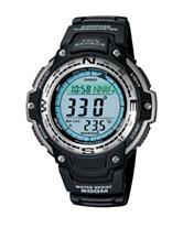 Casio Black Rubber Twin Sensor Compass Watch – Men's