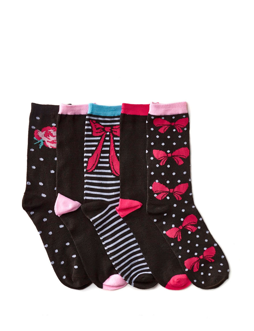 Betsey Johnson Black Socks