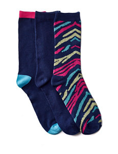 Betsey Johnson Navy Socks