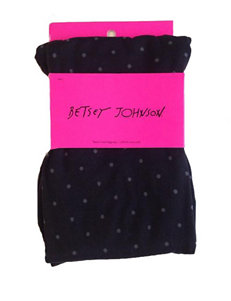Betsey Johnson Seamless Polka Dot Fleece Lined Leggings