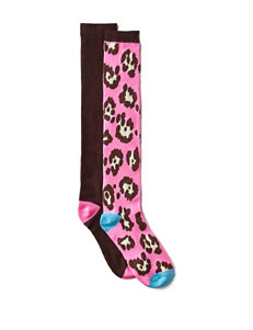 Betsey Johnson Brown Socks
