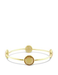 Yellow Onyx 22K Yellow Gold Plated Bangle Bracelet