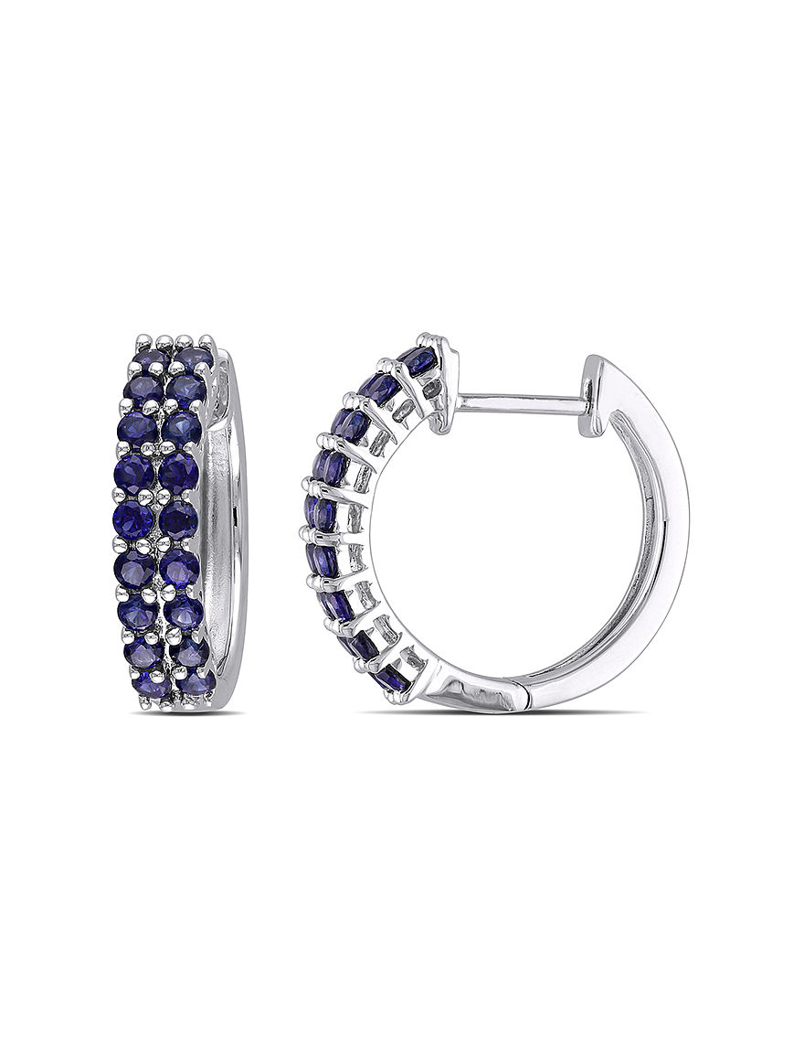Sophia B Silver Hoops Earrings Fine Jewelry