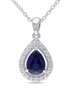 2.2 CT. T.W. Created Gemstone Necklace