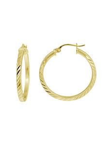 FMC Gold Hoops Earrings Fine Jewelry