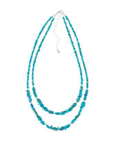 Sterling Silver Turquoise Double Strand Beaded Necklace